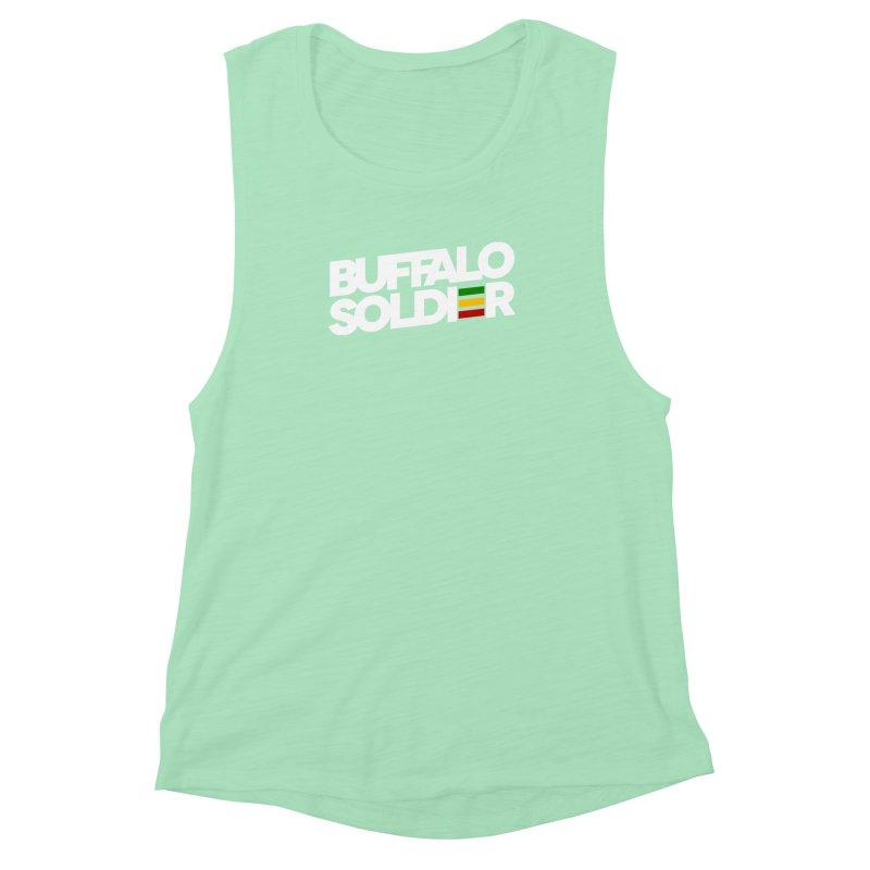 Buffalo Soldier (Light) Women's Muscle Tank by Rasta University Shop