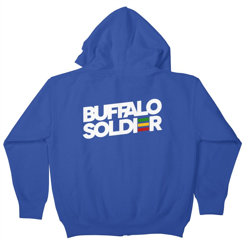Buffalo Soldier (Light) Kids Zip-Up Hoody by Rasta University Shop