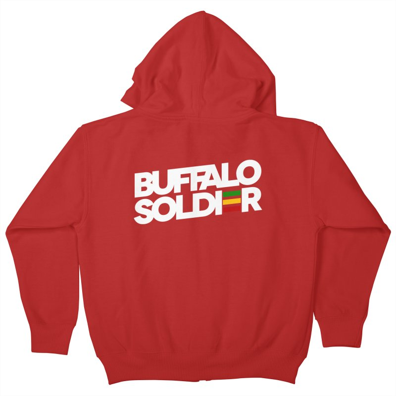 Buffalo Soldier (Light) Kids Zip-Up Hoody by Rasta University Shop