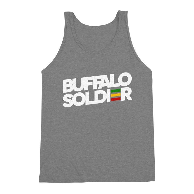 Buffalo Soldier (Light) Men's Triblend Tank by Rasta University Shop