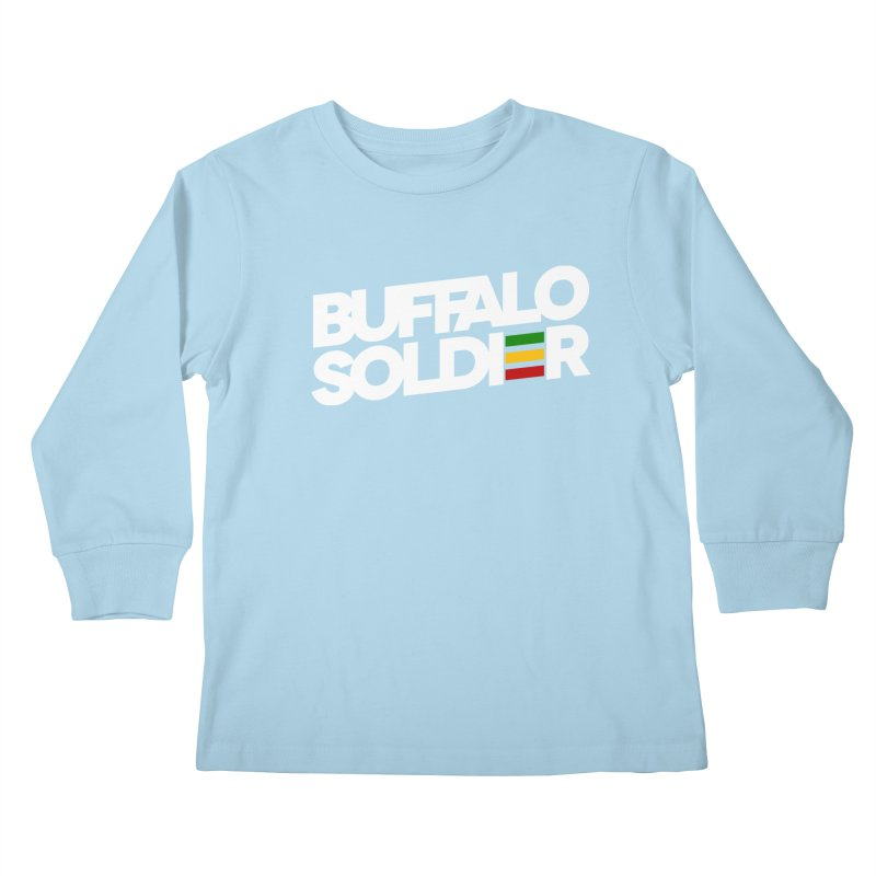 Buffalo Soldier (Light) Kids Longsleeve T-Shirt by Rasta University Shop