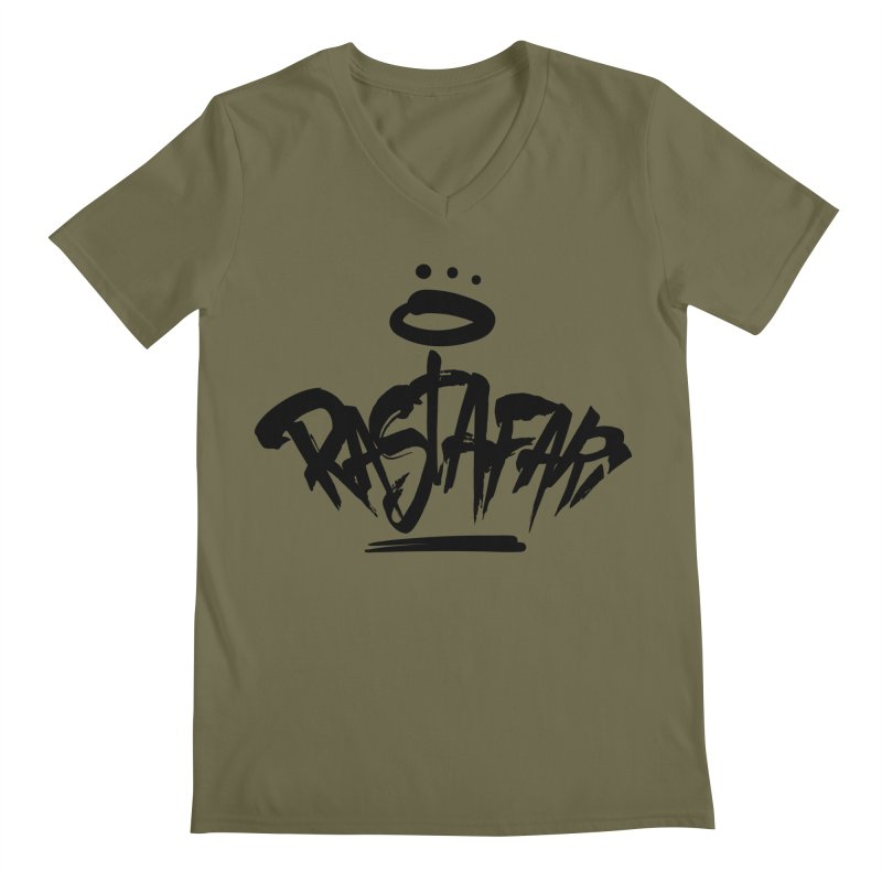 Rastafari (Dark) Men's Regular V-Neck by Rasta University Shop