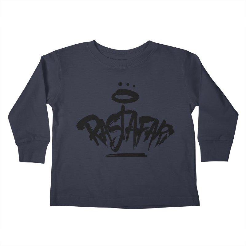 Rastafari (Dark) Kids Toddler Longsleeve T-Shirt by Rasta University Shop