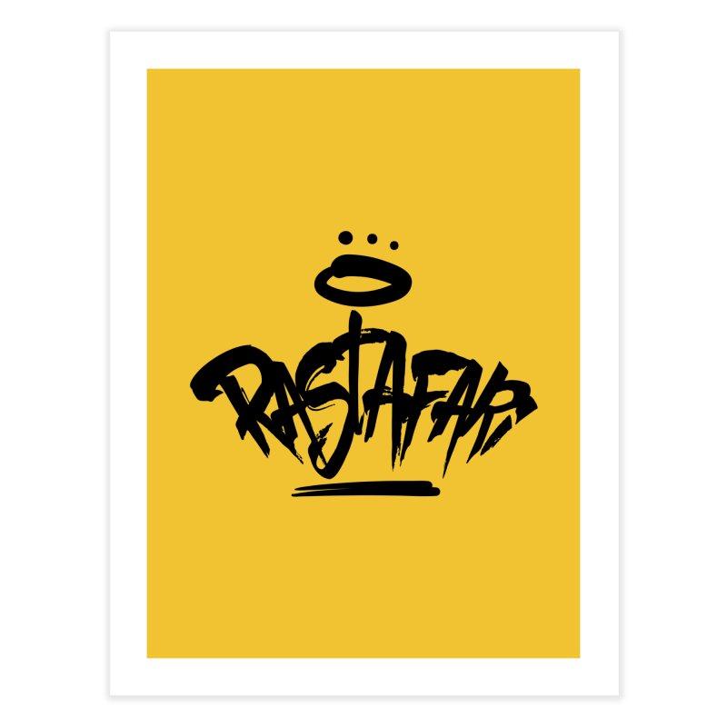 Rastafari (Dark) Home Fine Art Print by Rasta University Shop