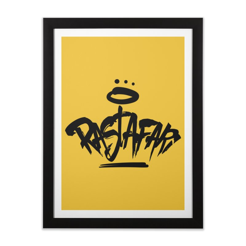 Rastafari (Dark) Home Framed Fine Art Print by Rasta University Shop