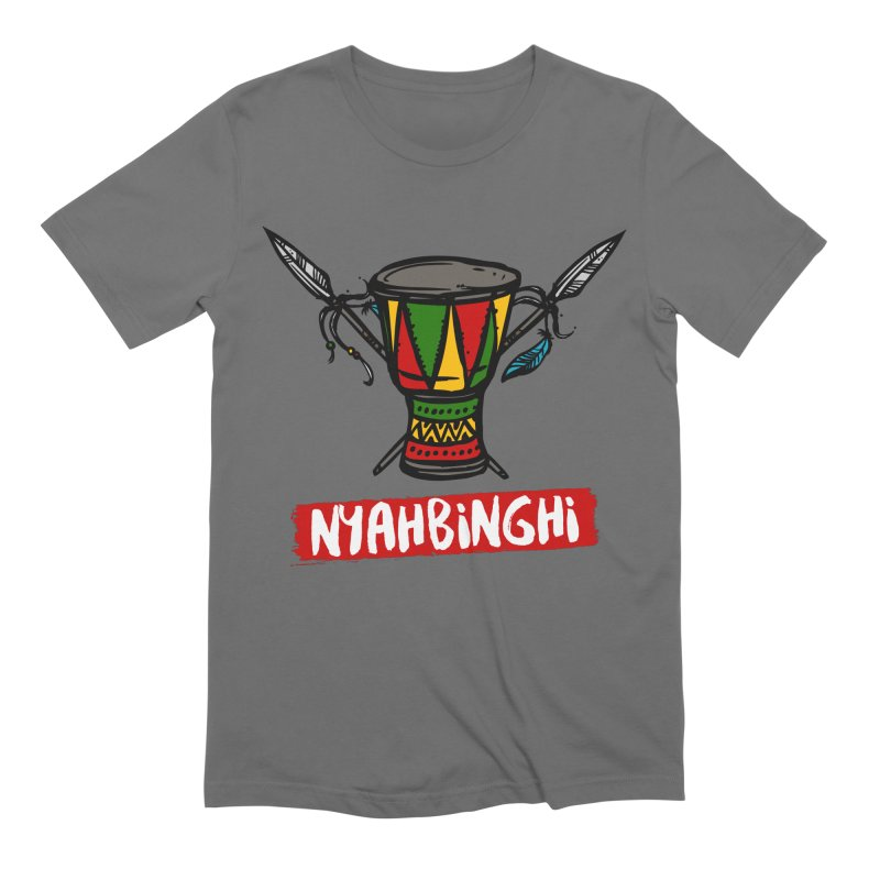 Rasta Nyabinghi Drum Men's T-Shirt by Rasta University Shop