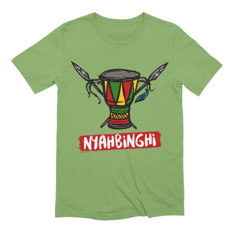 Rasta Nyabinghi Drum Men's Extra Soft T-Shirt by Rasta University Shop