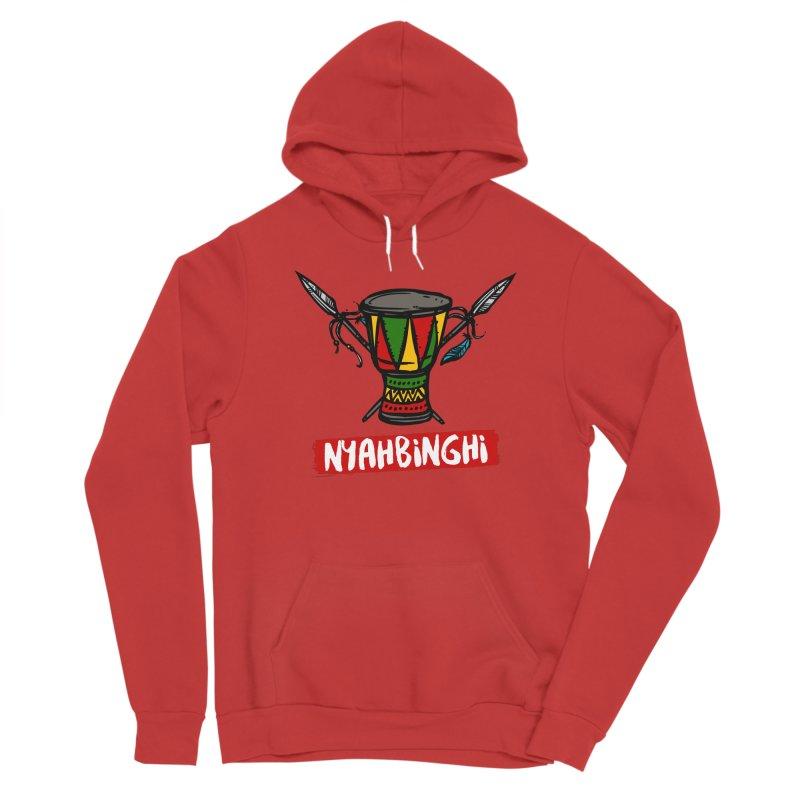Rasta Nyabinghi Drum Men's Pullover Hoody by Rasta University Shop