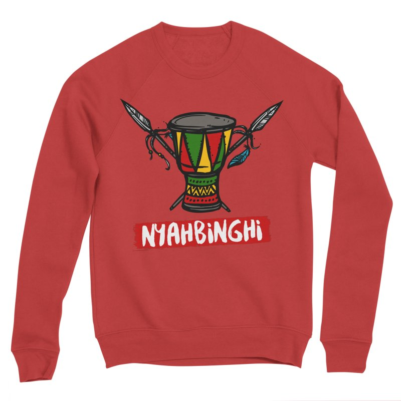 Rasta Nyabinghi Drum Men's Sponge Fleece Sweatshirt by Rasta University Shop