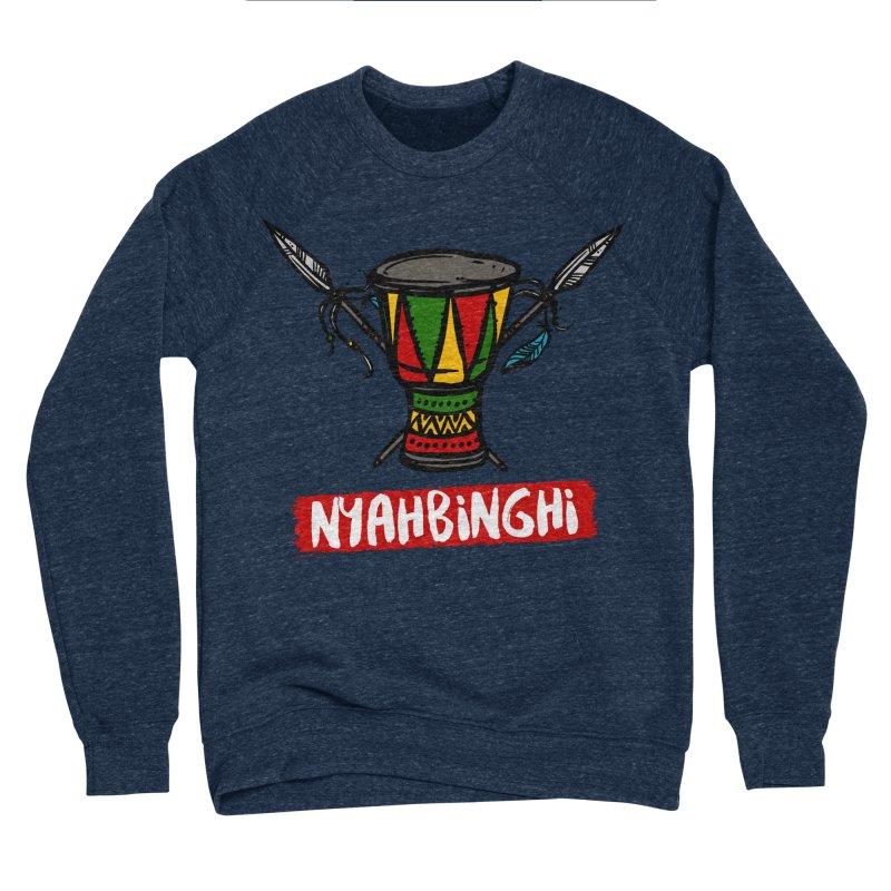 Rasta Nyabinghi Drum Men's Sponge Fleece Sweatshirt by Rasta University Shop