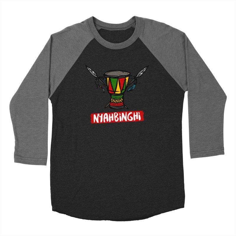 Rasta Nyabinghi Drum Men's Baseball Triblend Longsleeve T-Shirt by Rasta University Shop