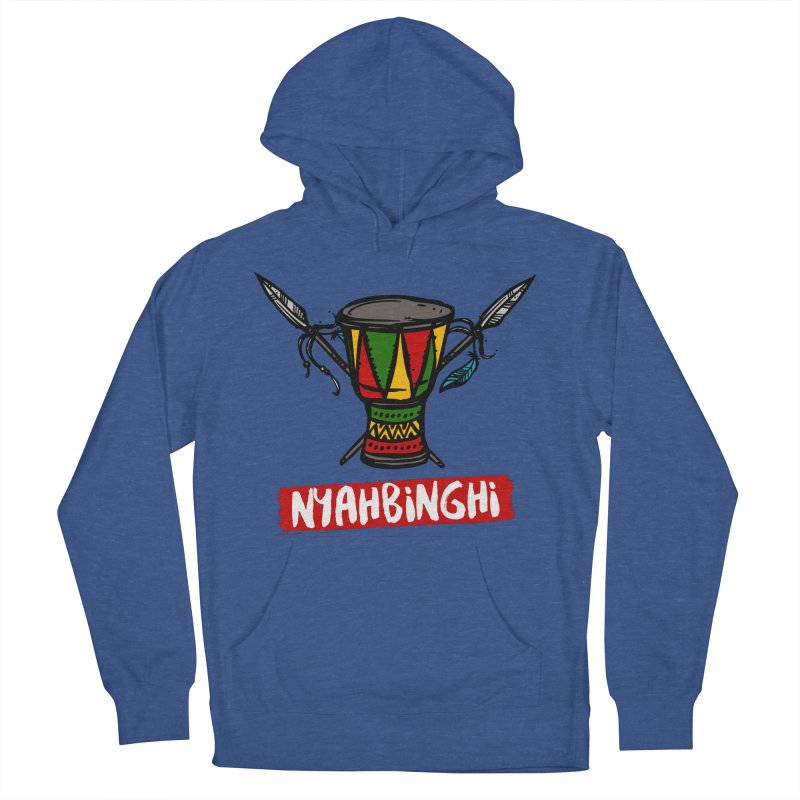 Rasta Nyabinghi Drum Men's French Terry Pullover Hoody by Rasta University Shop
