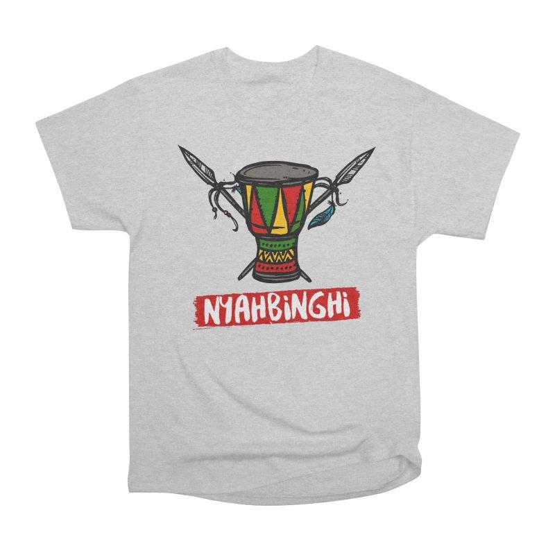 Rasta Nyabinghi Drum Women's Heavyweight Unisex T-Shirt by Rasta University Shop