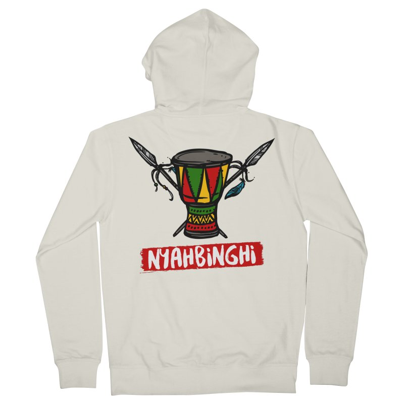 Rasta Nyabinghi Drum Women's French Terry Zip-Up Hoody by Rasta University Shop