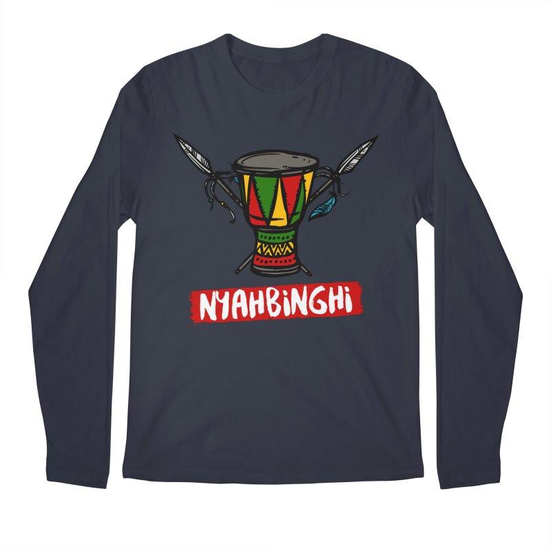 Rasta Nyabinghi Drum Men's Regular Longsleeve T-Shirt by Rasta University Shop