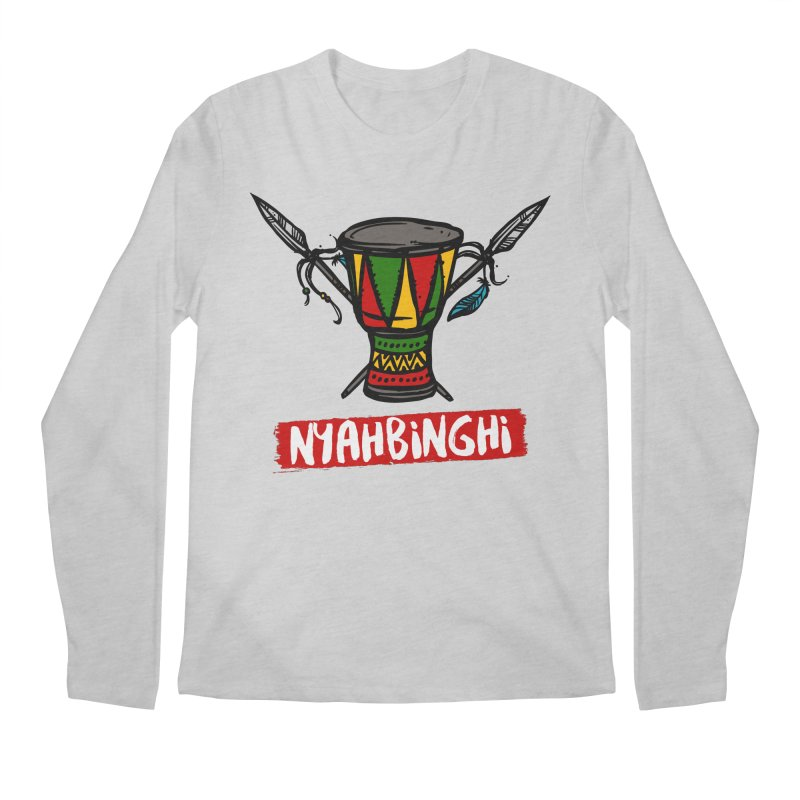 Rasta Nyabinghi Drum Men's Regular Longsleeve T-Shirt by Rasta University Shop