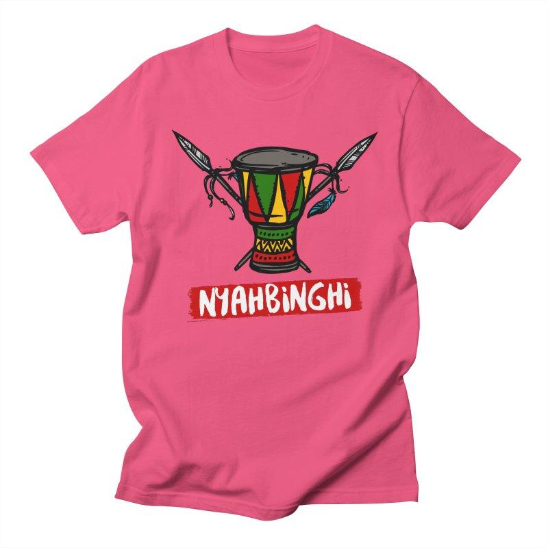 Rasta Nyabinghi Drum Men's Regular T-Shirt by Rasta University Shop