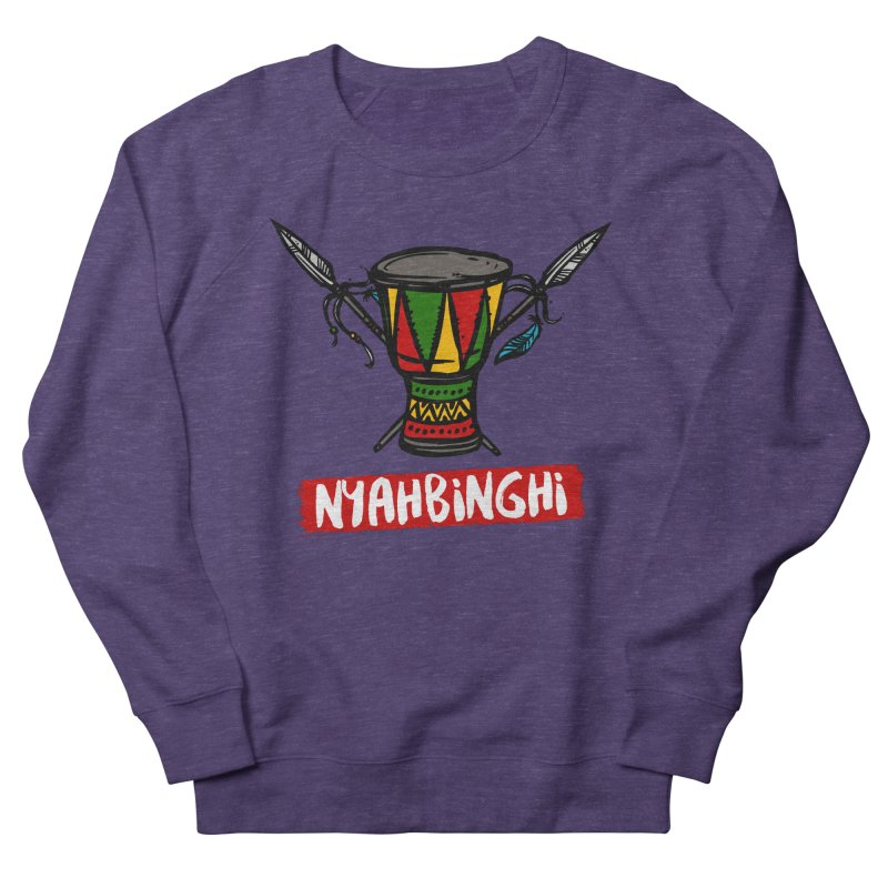 Rasta Nyabinghi Drum Men's French Terry Sweatshirt by Rasta University Shop