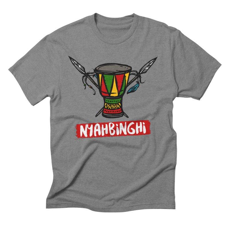 Rasta Nyabinghi Drum Men's Triblend T-Shirt by Rasta University Shop