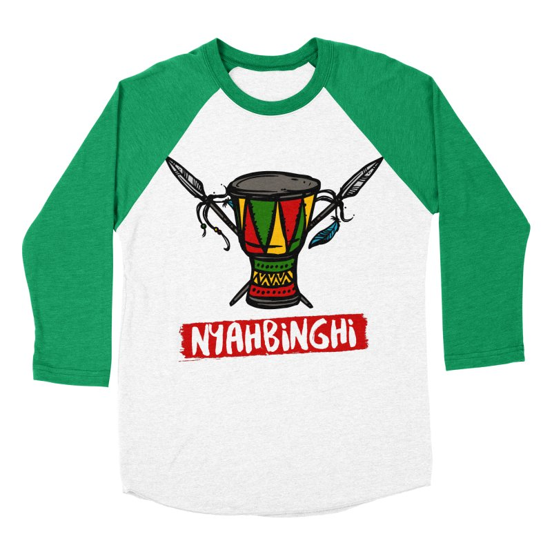 Rasta Nyabinghi Drum Women's Baseball Triblend Longsleeve T-Shirt by Rasta University Shop