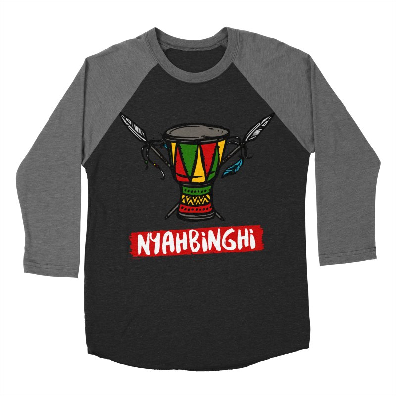 Rasta Nyabinghi Drum Women's Baseball Triblend Longsleeve T-Shirt by Rasta University Shop