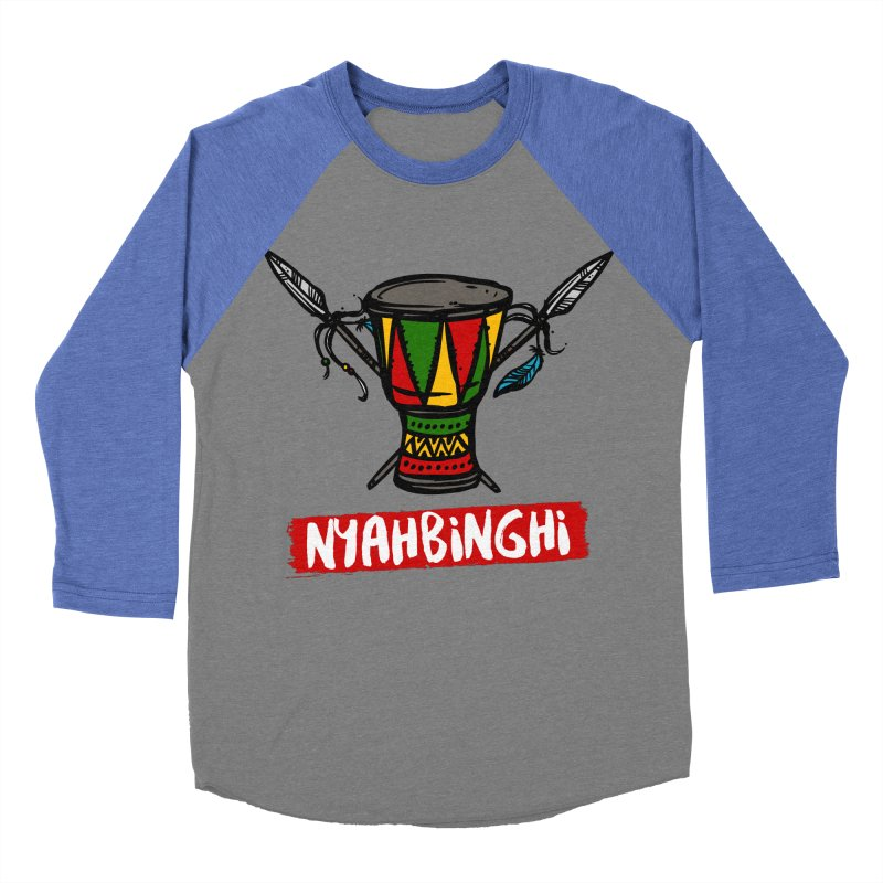 Rasta Nyabinghi Drum Men's Baseball Triblend Longsleeve T-Shirt by Rasta University Shop