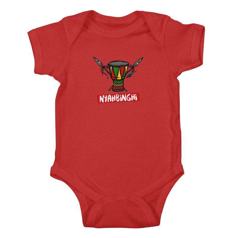 Rasta Nyabinghi Drum Kids Baby Bodysuit by Rasta University Shop