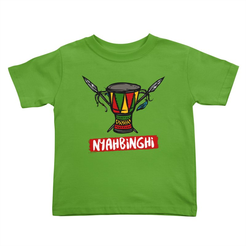 Rasta Nyabinghi Drum Kids Toddler T-Shirt by Rasta University Shop