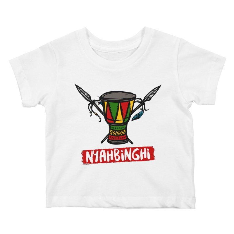 Rasta Nyabinghi Drum Kids Baby T-Shirt by Rasta University Shop