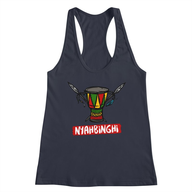 Rasta Nyabinghi Drum Women's Racerback Tank by Rasta University Shop