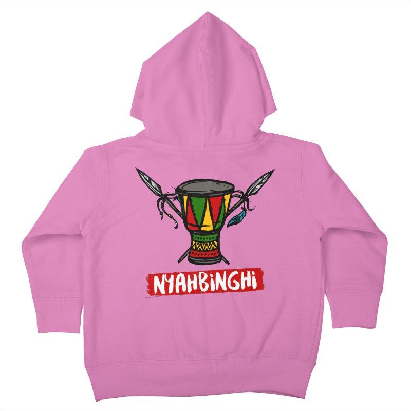 Rasta Nyabinghi Drum Kids Toddler Zip-Up Hoody by Rasta University Shop