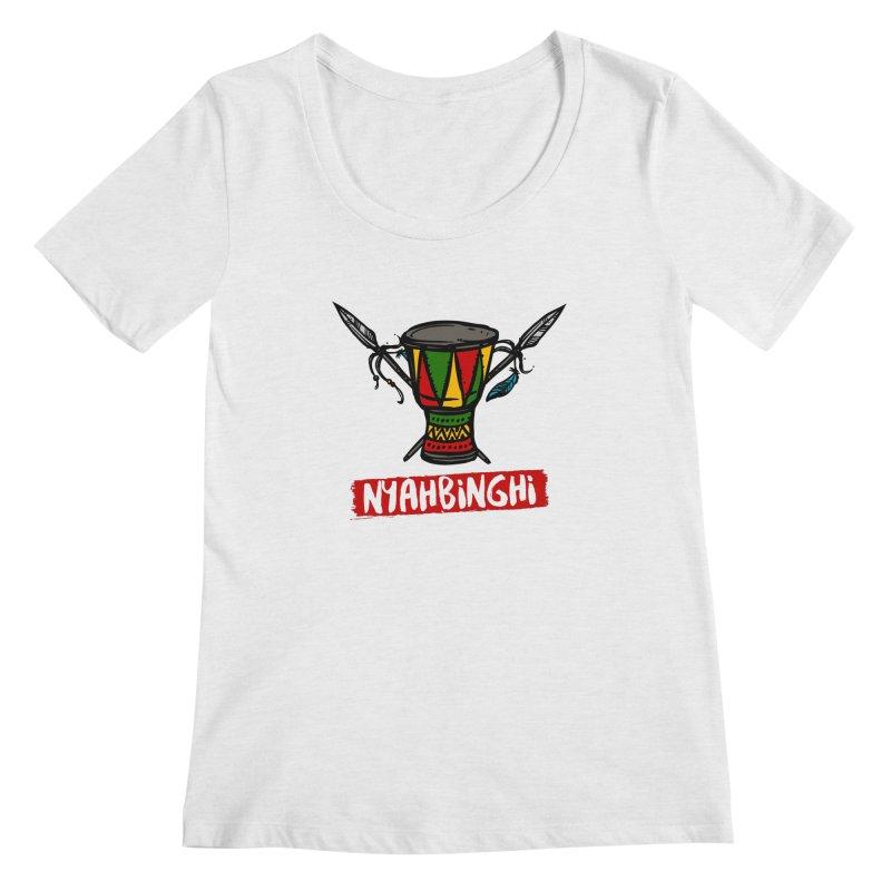 Rasta Nyabinghi Drum Women's Regular Scoop Neck by Rasta University Shop