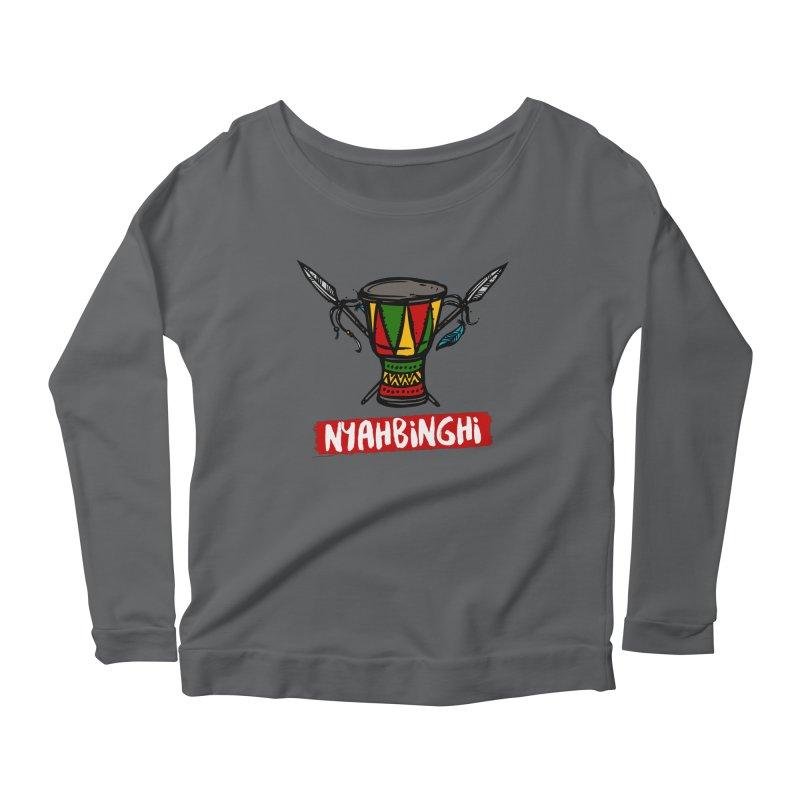 Rasta Nyabinghi Drum Women's Scoop Neck Longsleeve T-Shirt by Rasta University Shop