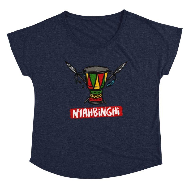 Rasta Nyabinghi Drum Women's Dolman Scoop Neck by Rasta University Shop