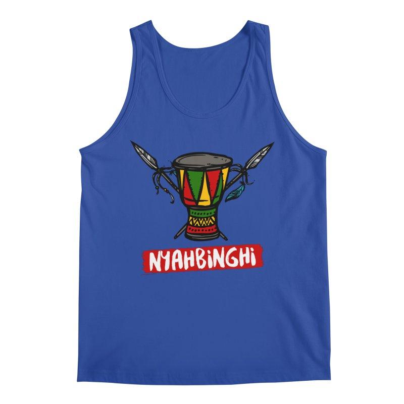 Rasta Nyabinghi Drum Men's Regular Tank by Rasta University Shop