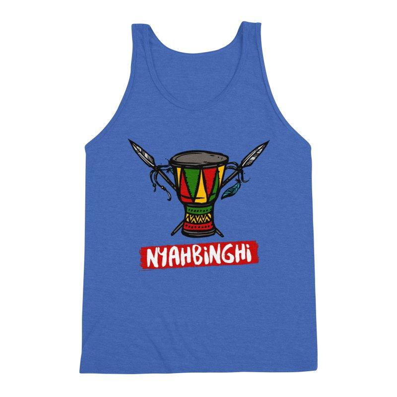 Rasta Nyabinghi Drum Men's Triblend Tank by Rasta University Shop