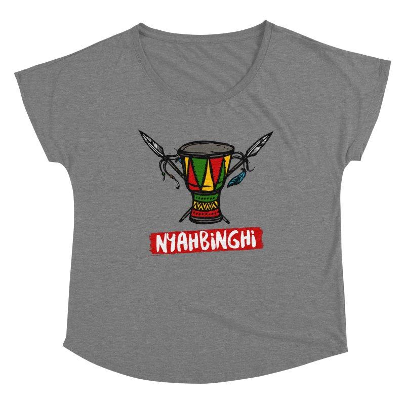 Rasta Nyabinghi Drum Women's Scoop Neck by Rasta University Shop