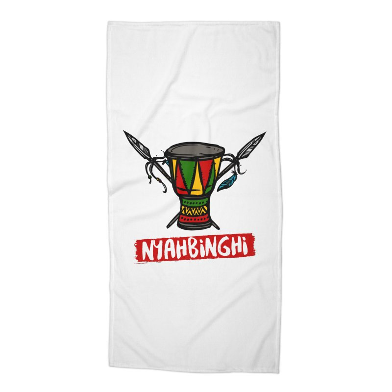 Rasta Nyabinghi Drum Accessories Beach Towel by Rasta University Shop