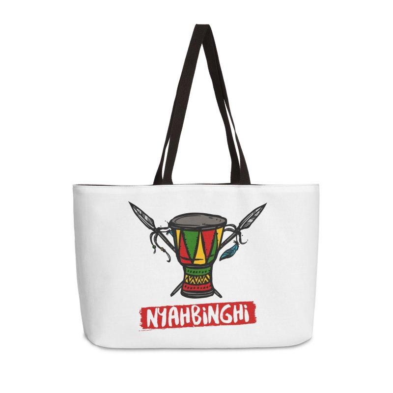 Rasta Nyabinghi Drum Accessories Weekender Bag Bag by Rasta University Shop