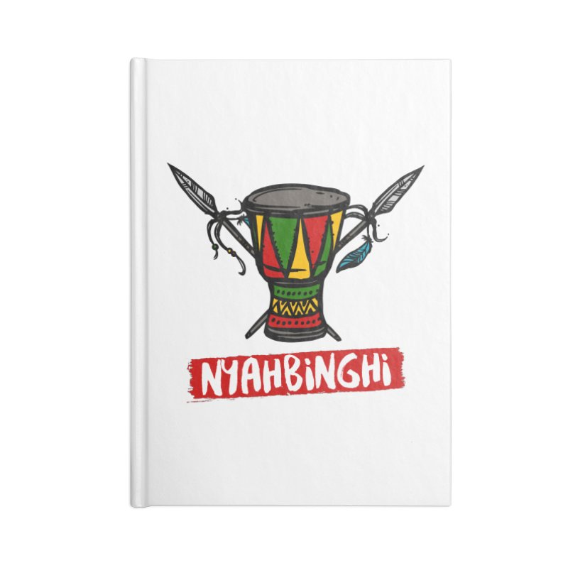 Rasta Nyabinghi Drum Accessories Blank Journal Notebook by Rasta University Shop