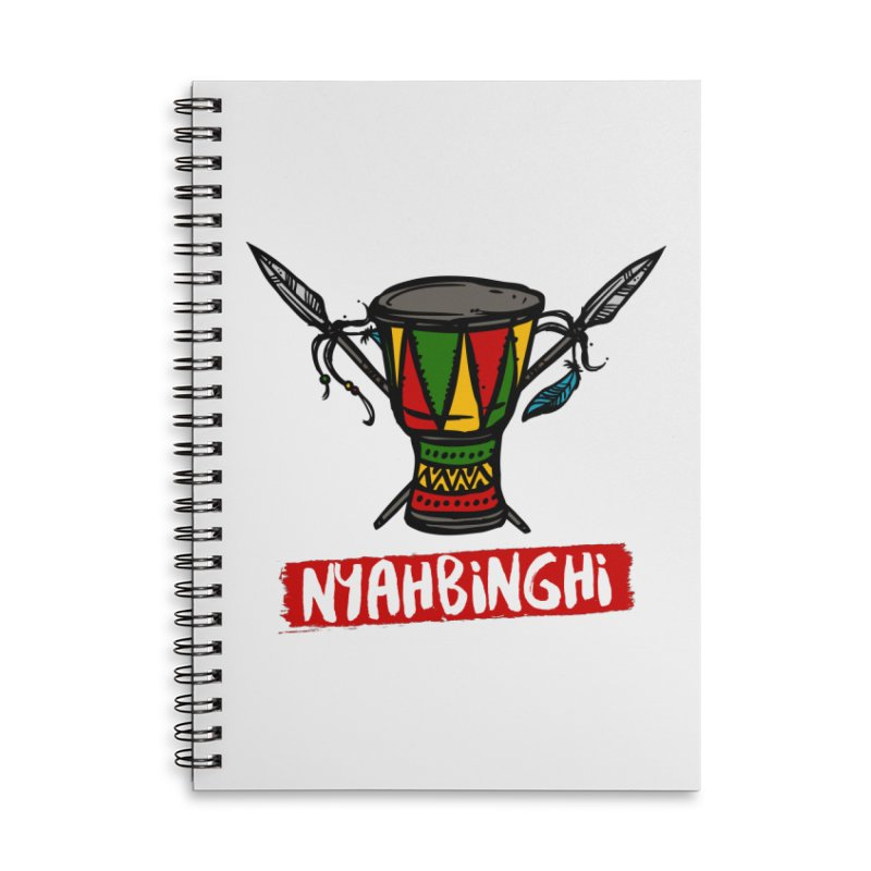 Rasta Nyabinghi Drum Accessories Lined Spiral Notebook by Rasta University Shop