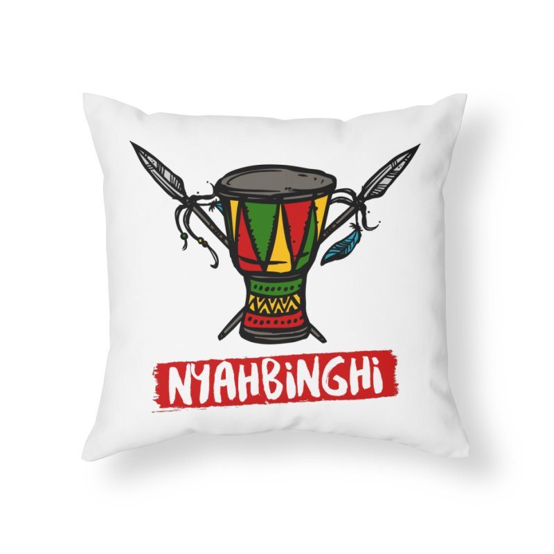Rasta Nyabinghi Drum Home Throw Pillow by Rasta University Shop