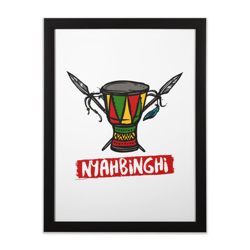 Rasta Nyabinghi Drum Home Framed Fine Art Print by Rasta University Shop