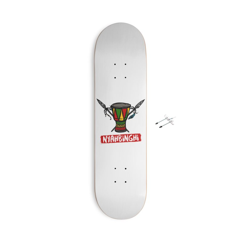 Rasta Nyabinghi Drum Accessories With Hanging Hardware Skateboard by Rasta University Shop