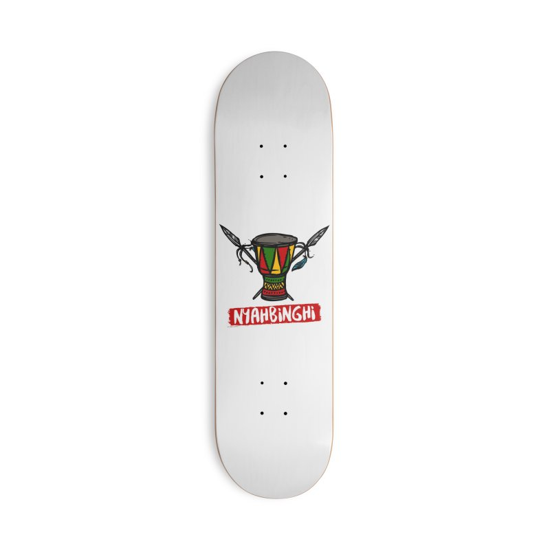 Rasta Nyabinghi Drum Accessories Deck Only Skateboard by Rasta University Shop