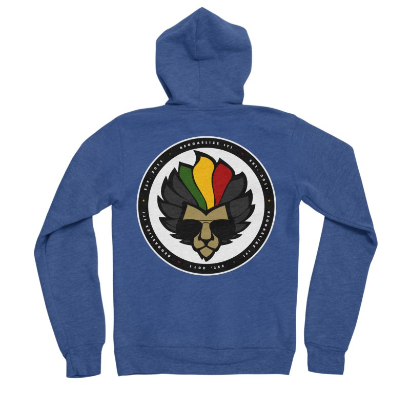 Reggaelize it! Logo Men's Sponge Fleece Zip-Up Hoody by Rasta University Shop