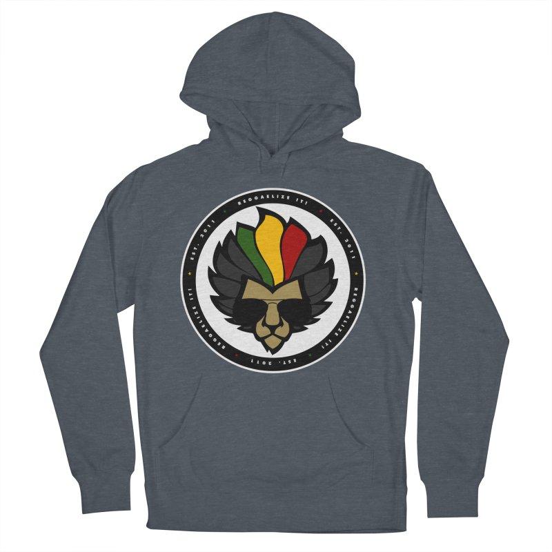 Reggaelize it! Logo Men's French Terry Pullover Hoody by Rasta University Shop