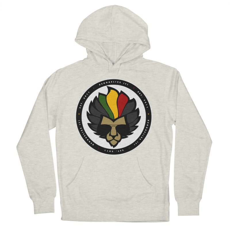 Reggaelize it! Logo Men's French Terry Pullover Hoody by Rasta University Shop