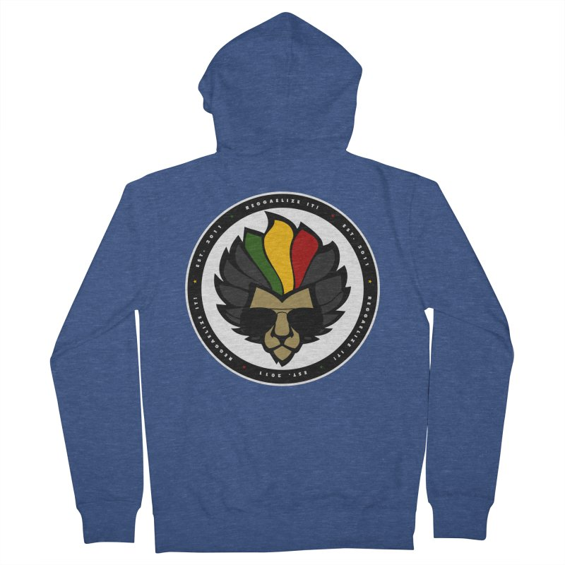 Reggaelize it! Logo Women's French Terry Zip-Up Hoody by Rasta University Shop
