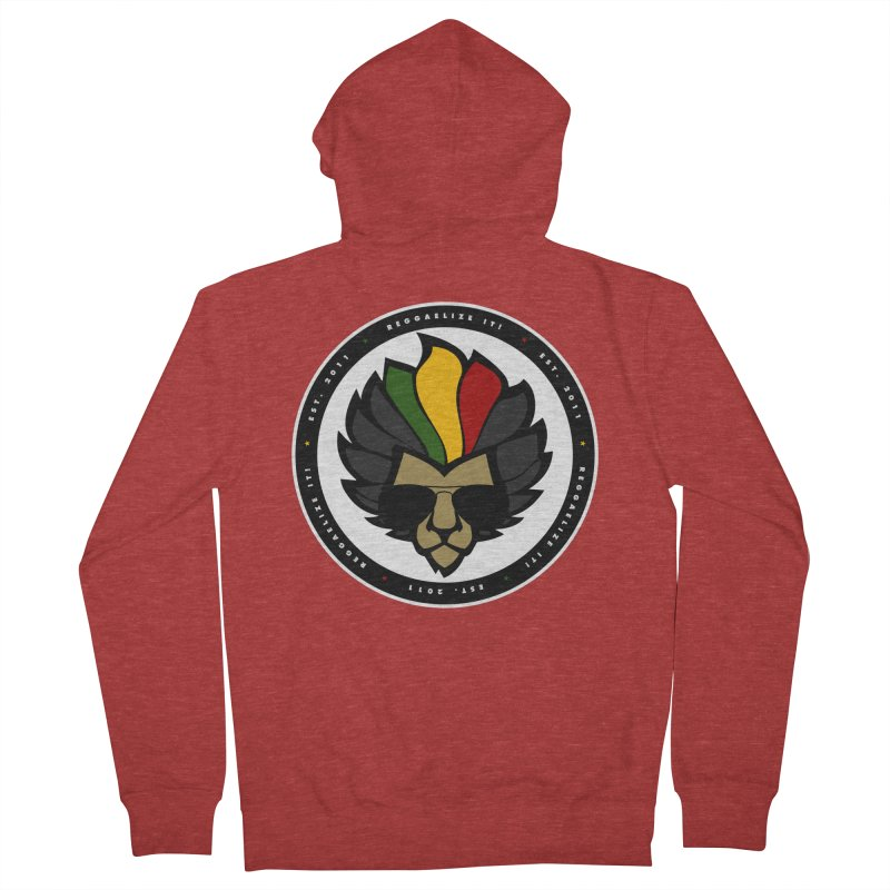 Reggaelize it! Logo Men's French Terry Zip-Up Hoody by Rasta University Shop
